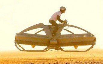 Moto volante Aeroflex : véhicule tout droit sorti d'un film de science fiction!