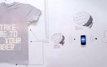tshirtOS, un T-shirt programmable qui affiche vos tweets!