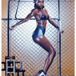 Cassie seins nue, la nouvelle copine de P. Diddy pose sexy en maillot de bain bikini dans le magazine QG