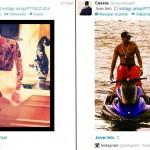 Cassie RT P. Diddy confirme qu'ils sont en couple. Image instagram de la révélation sur twitter.