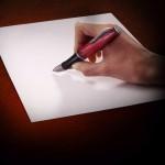 Illusion photo et peinture sur main par Ray Massey : 03 stylo doigt