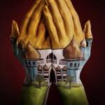 Illusion photo et peinture sur main par Ray Massey : 04 mosquée
