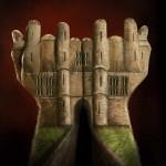 Illusion photo et peinture sur main par Ray Massey : 05 chateau