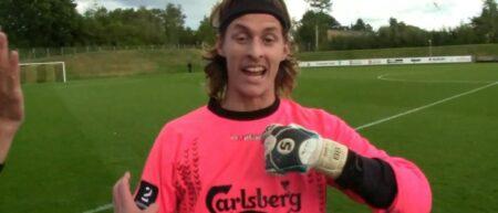 jakob kohler le goal danois du BK Frem Copenhague marque un but en bicyclette dans le temps additionnel