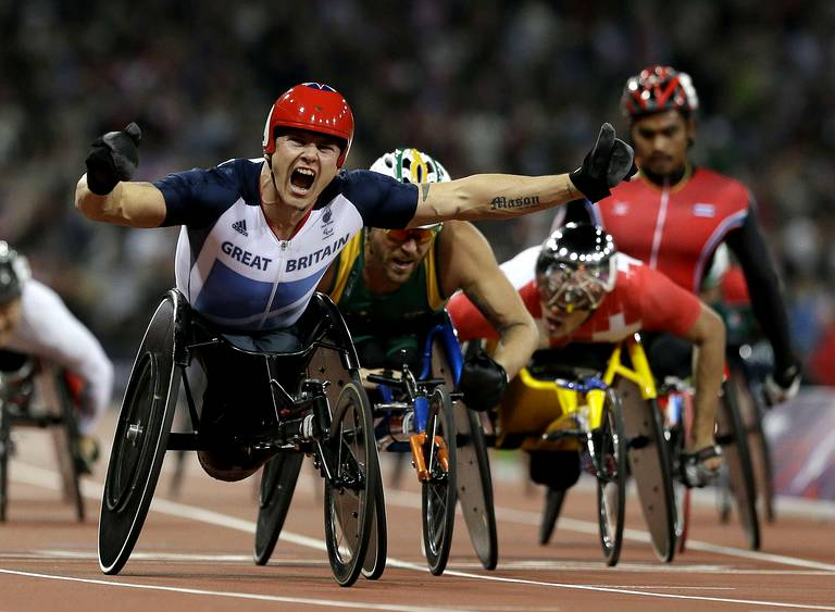 David Weir (Grande-Bretagne) médaille d'or du 5000m T54.
