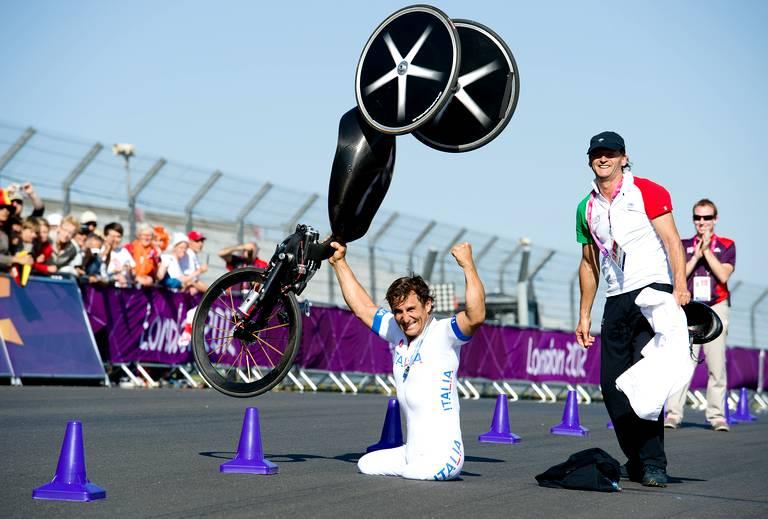 Alessandro Zanardi (Italie) or contre-la-montre masculin cyclisme H4.