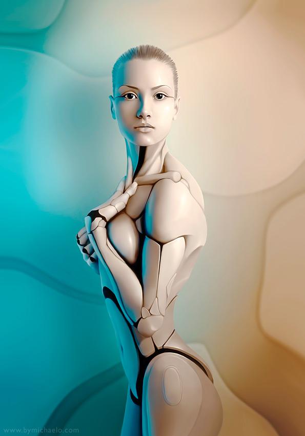 Femme bionique AmalgaMATE par michaelo.