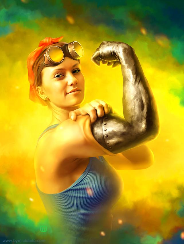 Femme bionique webdidit par michaelo.