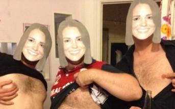 Tétons à l'air pour Kate : des anglais seins nus pour soutenir Kate Middleton