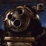 Monstre robot en forme d'objectif de caméra. The Green Ruby Pumpkin : court-métrage fantastique d'Halloween par Miguel Ortega.