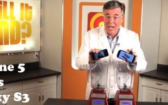 Battle iPhone 5 vs Galaxy S3 passés au mixeur – Will It Blend?
