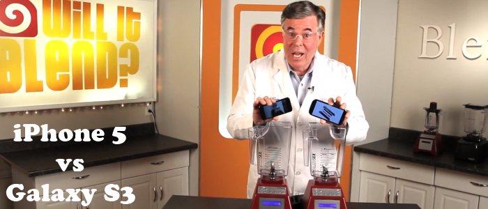 Battle iPhone 5 vs Galaxy S3 passés au mixeur – Will It Blend? Tom Dickson Blendtec .