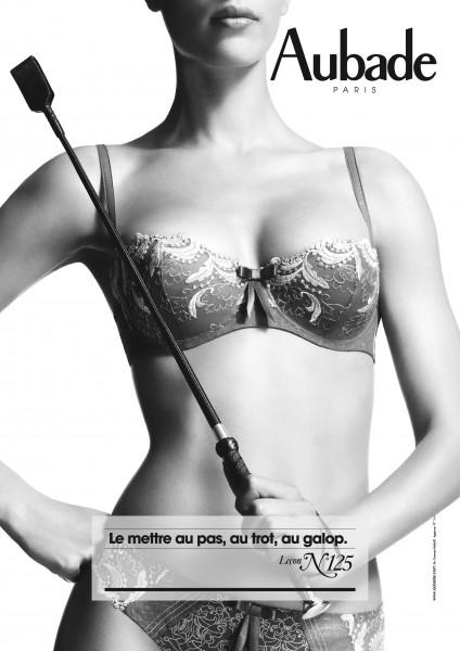 """Calendrier Aubade 2013. Leçon de séduction n°125 : """"Le mettre au pas, au trot, au galop""""."""