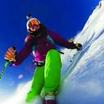 Julia Mancusco ski extrême au mt cook GoPro HERO3 Black Edition HD sports extrêmes.