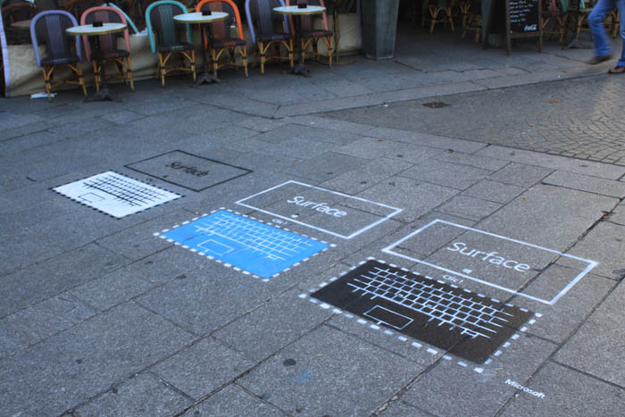 Microsoft Surface Street Marketing par Urban Act 01