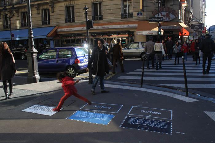 Microsoft Surface Street Marketing par Urban Act 02