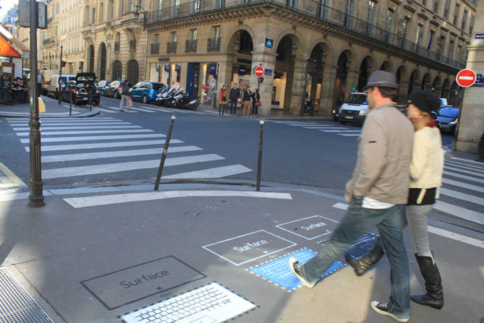 Microsoft Surface Street Marketing par Urban Act 03