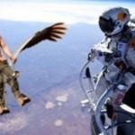 Parodie Red Bull Stratos. Détournement du saut de Felix Baumgartner depuis l'espace. Humour Vladimir Poutine.