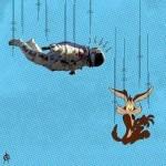 Parodie Red Bull Stratos. Détournement du saut de Felix Baumgartner depuis l'espace. Humour. bip bip coyote.