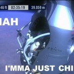 Parodie Red Bull Stratos. Détournement du saut de Felix Baumgartner depuis l'espace. Humour chill