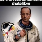 Parodie Red Bull Stratos. Détournement du saut de Felix Baumgartner depuis l'espace. Humour François Hollande chute libre.