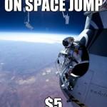 Parodie Red Bull Stratos. Détournement du saut de Felix Baumgartner depuis l'espace. Humour microphone.