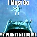 Parodie Red Bull Stratos. Détournement du saut de Felix Baumgartner depuis l'espace. Humour planete.