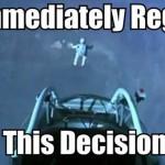 Parodie Red Bull Stratos. Détournement du saut de Felix Baumgartner depuis l'espace. Humour regette.
