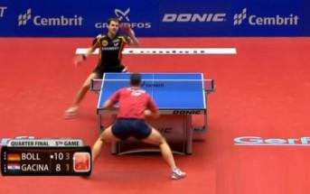 Ping-Pong : balle de match en 27 échanges [Timo Boll vs Andrej Gacina]
