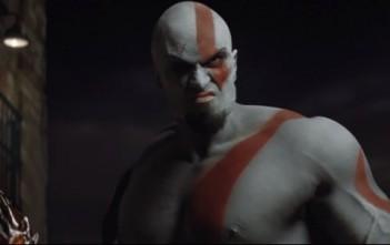 Kratos du jeu God of War en réel dans le film publicitaire de PlayStation All-Stars Battle Royale.