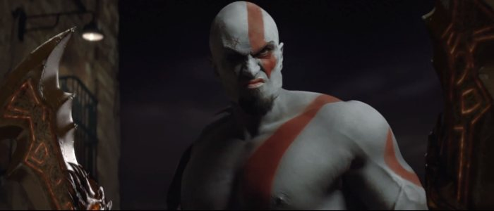 Kratos du jeu God of War en réel dans le film publicitaire de PlayStation All-Stars Battle Royale.