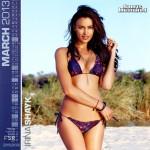 Calendrier Sports Illustrated Swimsuit 2013. Mars : Irina Shayk Sexy en bikini violet.