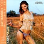 Calendrier Sports Illustrated Swimsuit 2013. Septembre : Cintia Dicker Sexy en bikini tshirt mouillé. Maillot de bain seins nue topless.