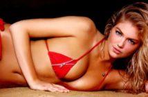 Calendrier Sports Illustrated Swimsuit 2013. Kate Upton Sexy en bikini rouge.