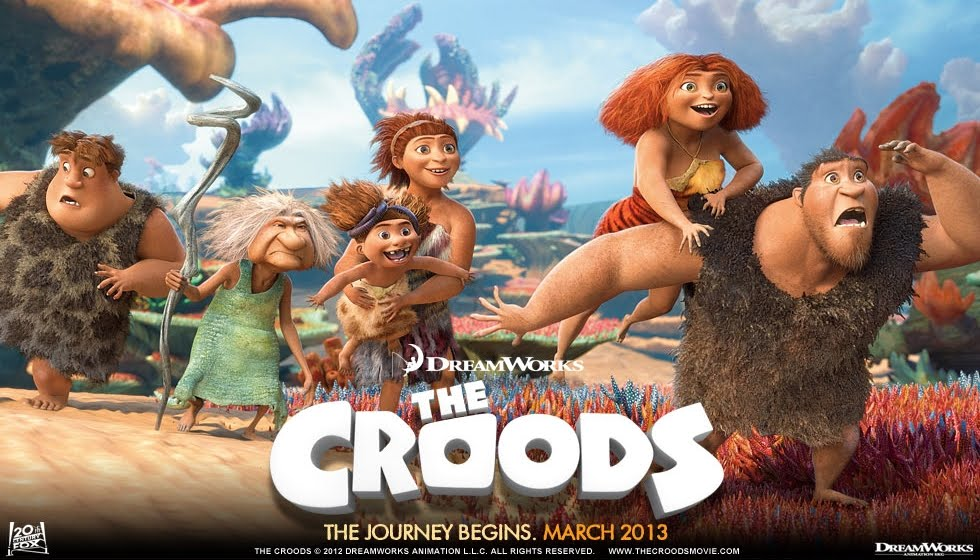 "Image de ""The Croods"". Film d'animation DreamWorks 2013."