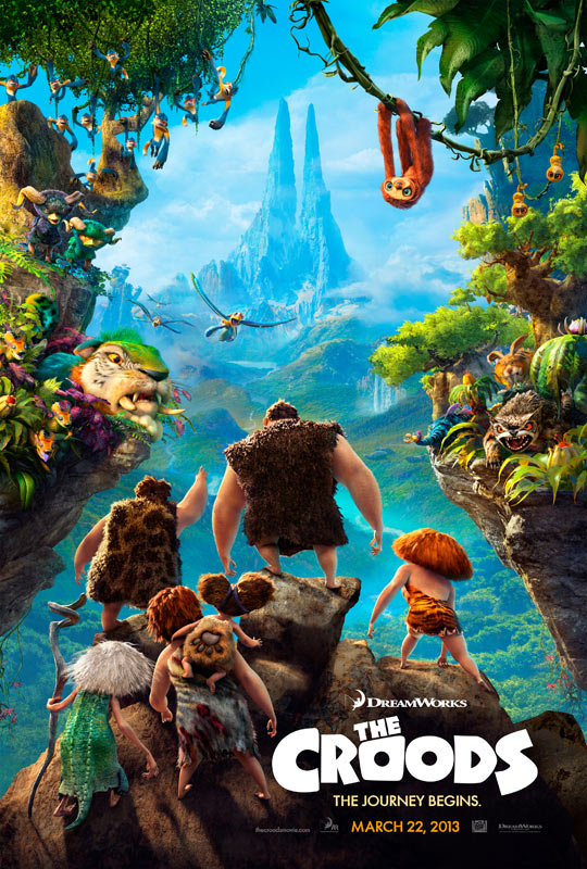 "Affiche officielle du film d'animation ""The Croods"". DreamWorks 2013."