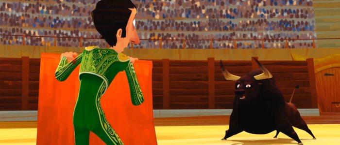 Un toréador face à un taureau dans l'arène de corrida. The suit of light : court-métrage d'animation sur la corrida.