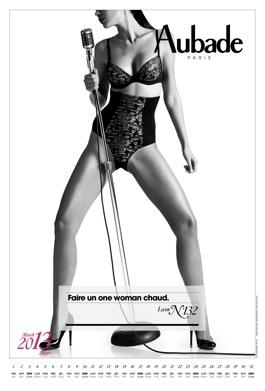 Calendrier aubade 2013 : mars. Leçon de séduction n°132 : faire un one woman show.