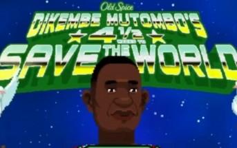 Old Spice Advergame en 8bits : sauvez le monde avec Dikembe Mutombo