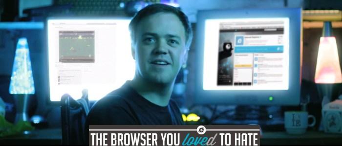 Eugene Finlon : IE SUCKS. Le geek qui déteste Internet Explorer. Pub auto dérision IE10.