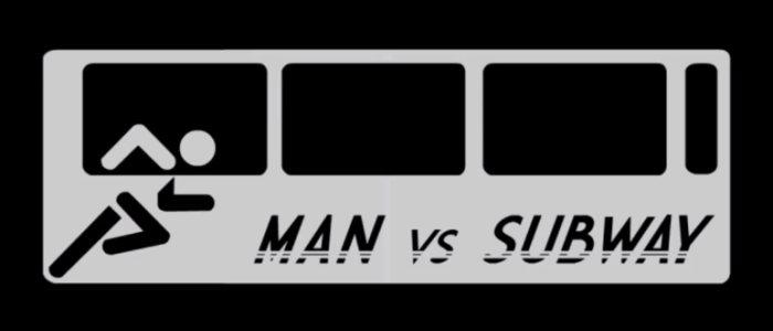 man vs subway course homme métro
