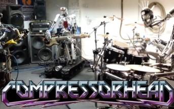 Compressorhead, groupe de robots qui jouent du métal [rock robotique]