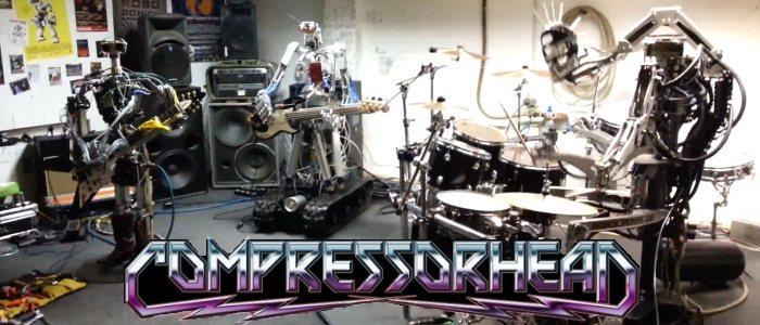 Compressorhead, robots qui jouent du rock metal
