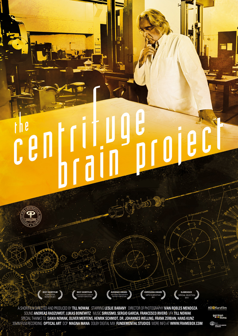 "Affiche du documentaire ""The centrifuge brain project"""