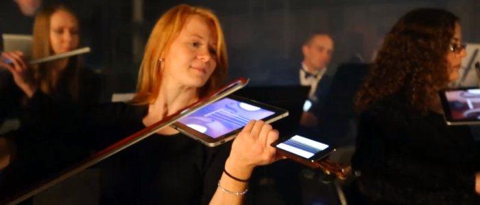 Digital Orchestra : beethoven joué avec des ipads et iphones - violon digital