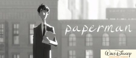 Paperman, court-métrage d'animation de Disney en noir et blanc