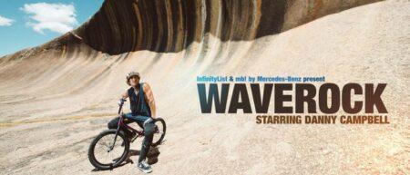 Wave Rock : Danny Campbell fait du BMX sur une vague de roche en Autralie. Infinitylist et mb! mercedes-benz.