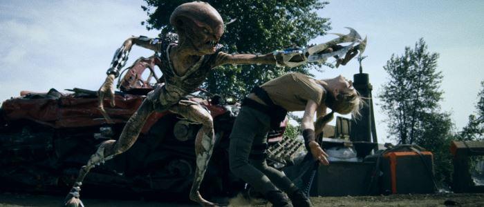 Hybrids : combat en une femme et des Aliens. Court métrage SF.