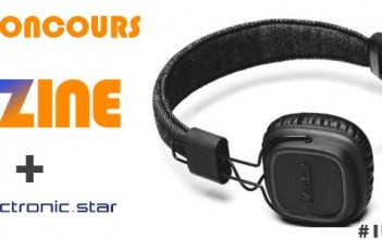 #1tweet1gift : jeu-concours buzzwebzine + Electronic Star pour gagner un casque Marshall Major Pitch Black