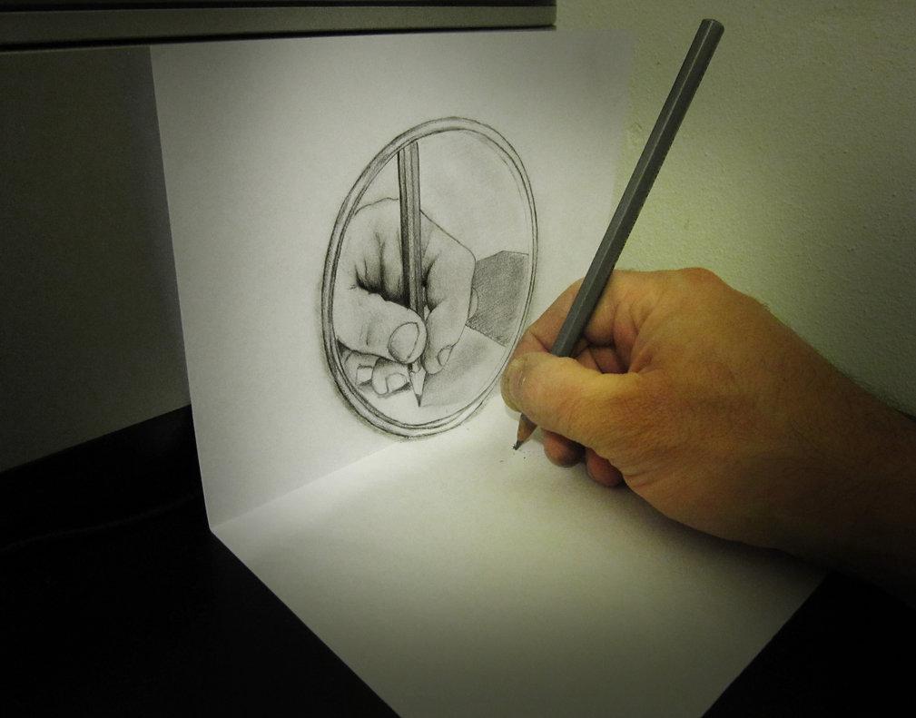 Les dessins en relief d alessandro diddi croquis for Site pour dessiner en 3d